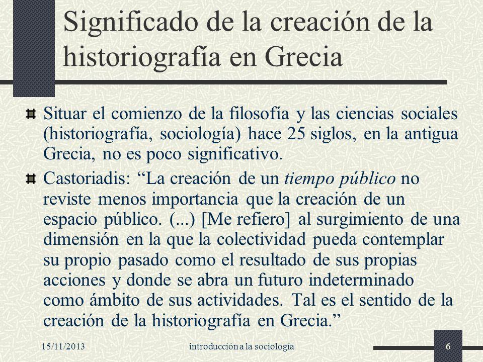 Significado de la creación de la historiografía en Grecia