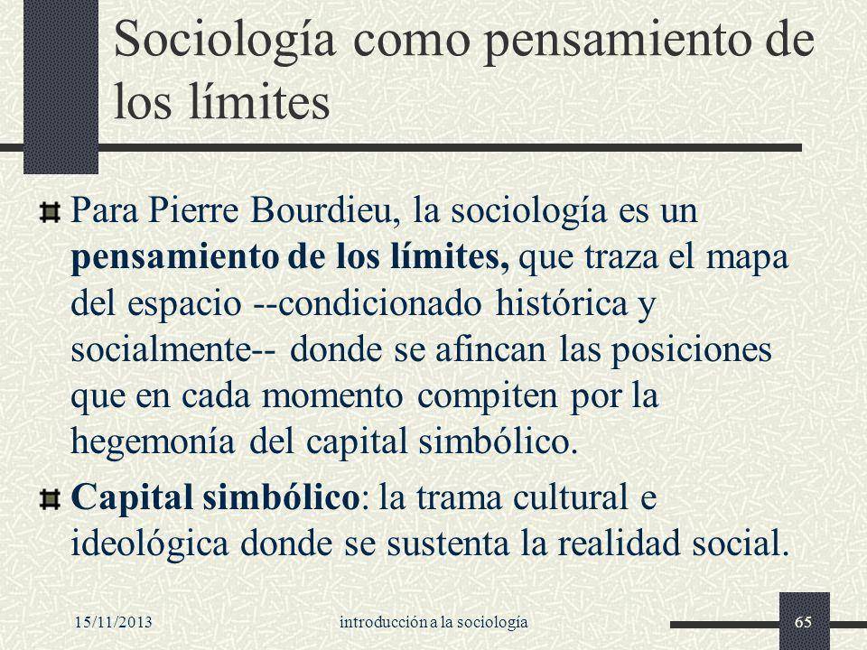 Sociología como pensamiento de los límites