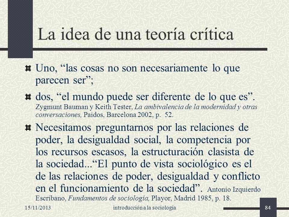 La idea de una teoría crítica