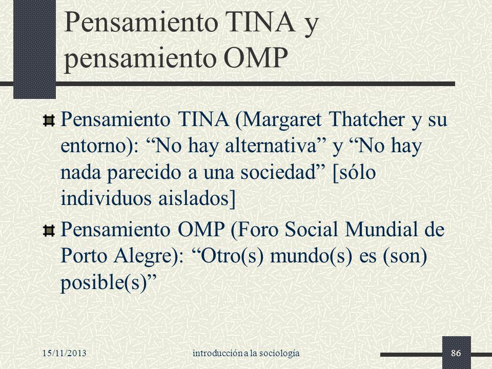 Pensamiento TINA y pensamiento OMP
