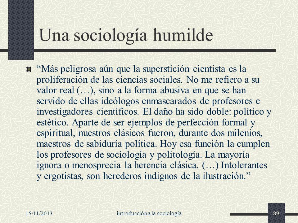 Una sociología humilde