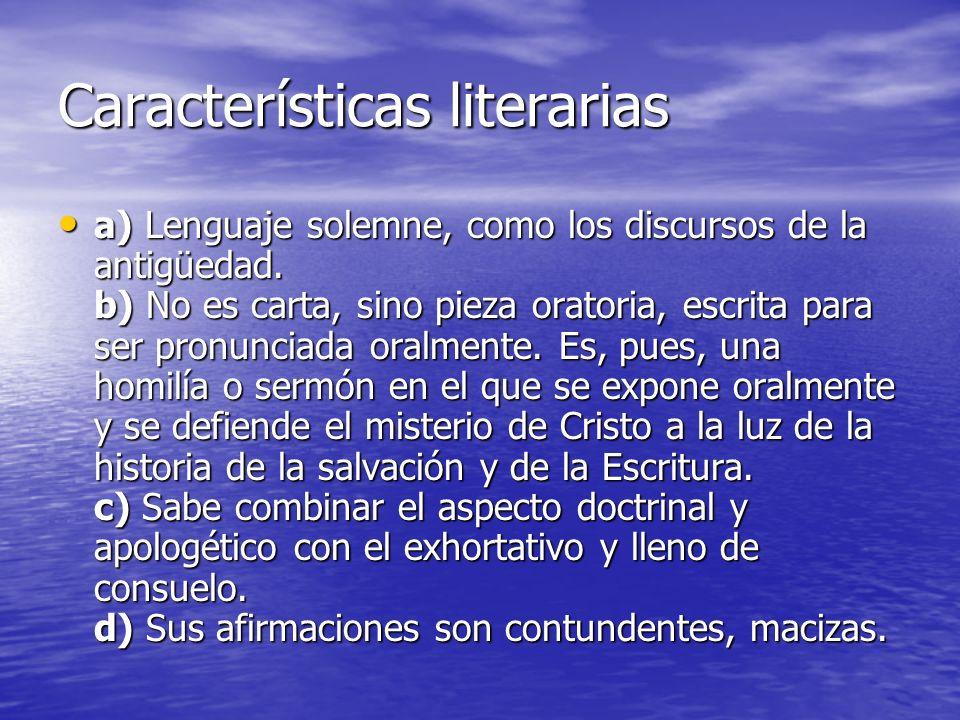 Características literarias