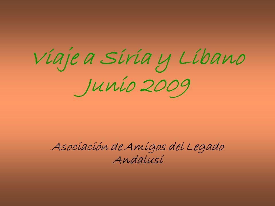 Viaje a Siria y Líbano Junio 2009