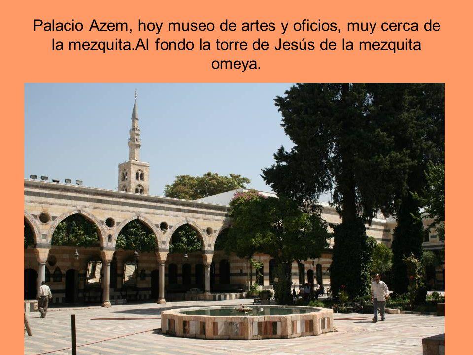 Palacio Azem, hoy museo de artes y oficios, muy cerca de la mezquita