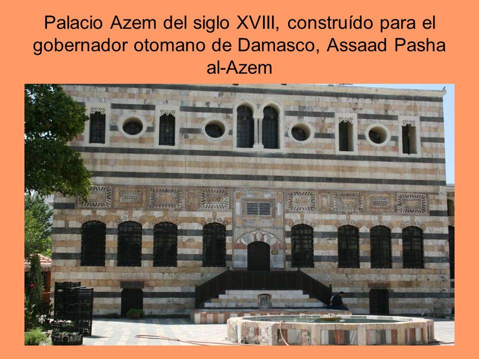 Palacio Azem del siglo XVIII, construído para el gobernador otomano de Damasco, Assaad Pasha al-Azem
