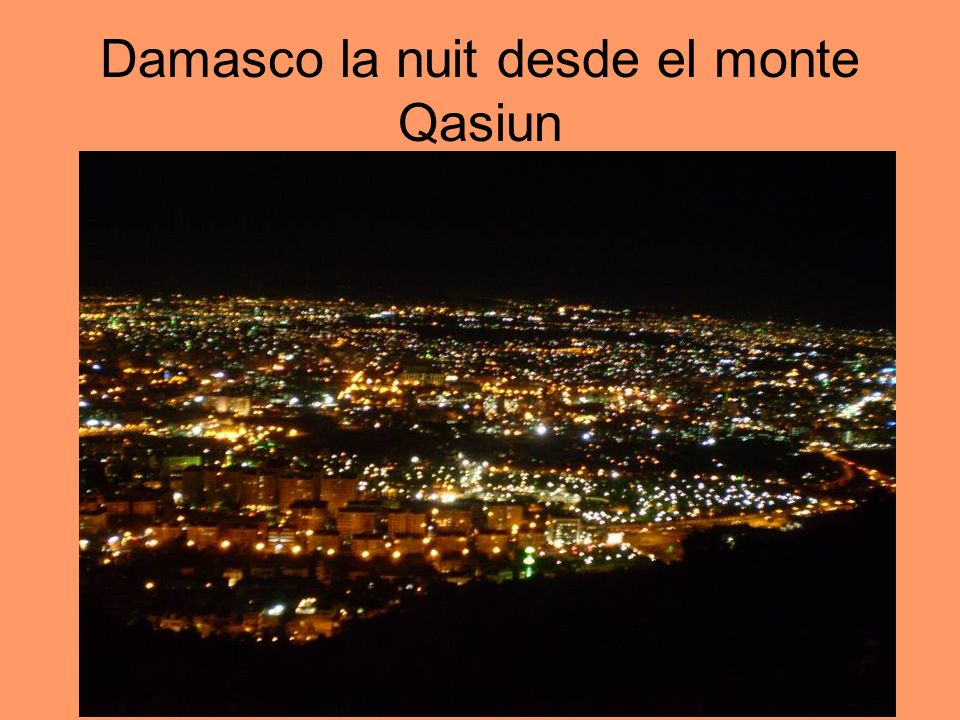 Damasco la nuit desde el monte Qasiun