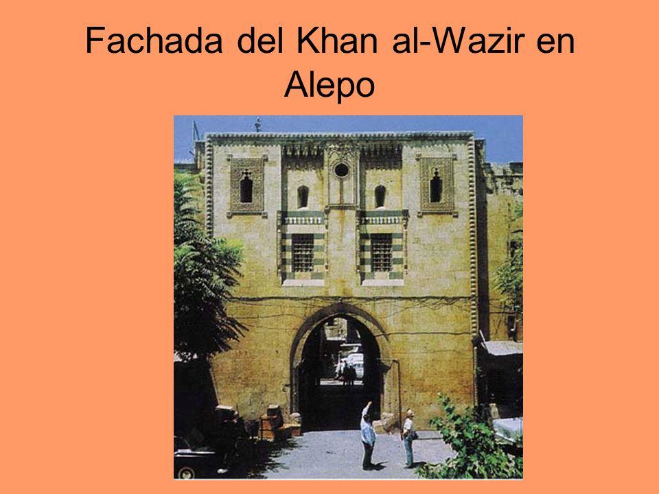 Fachada del Khan al-Wazir en Alepo