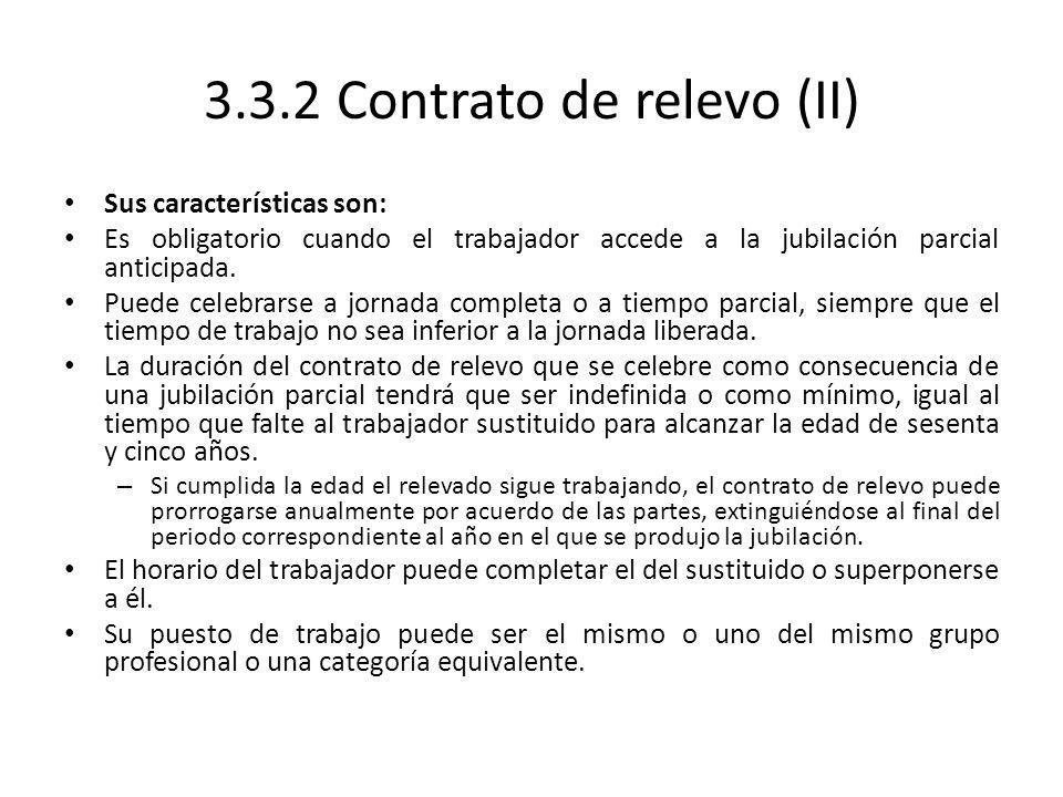 3.3.2 Contrato de relevo (II)
