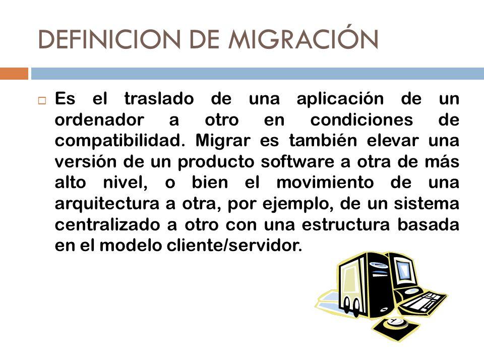 DEFINICION DE MIGRACIÓN