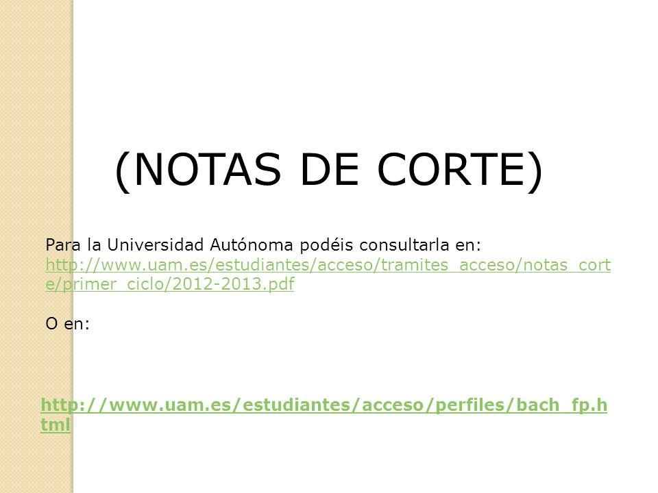 (NOTAS DE CORTE)