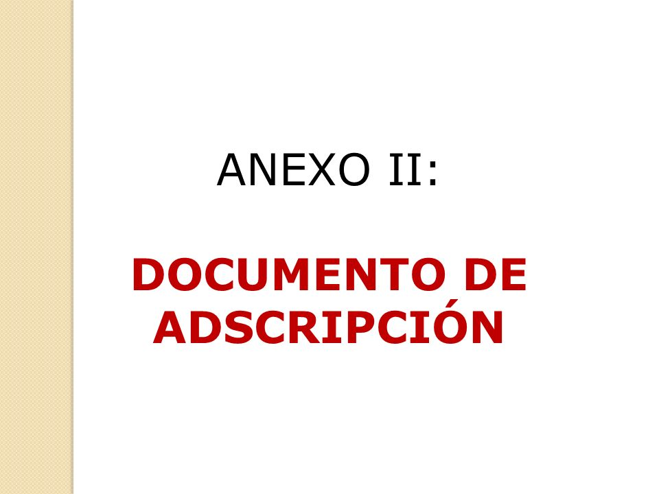 DOCUMENTO DE ADSCRIPCIÓN