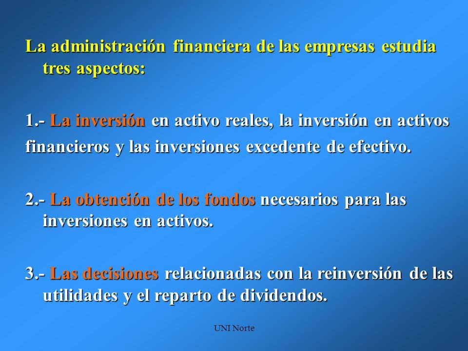 La administración financiera de las empresas estudia tres aspectos: