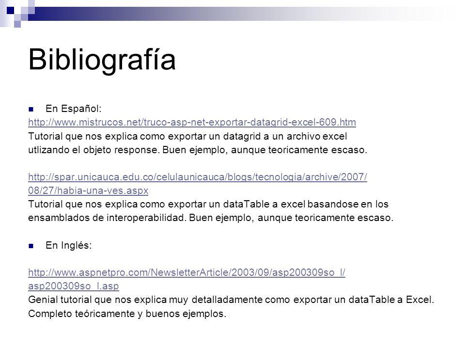 Bibliografía En Español: