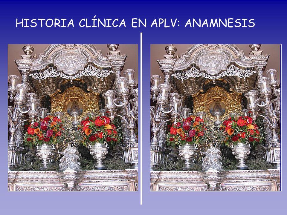 HISTORIA CLÍNICA EN APLV: ANAMNESIS