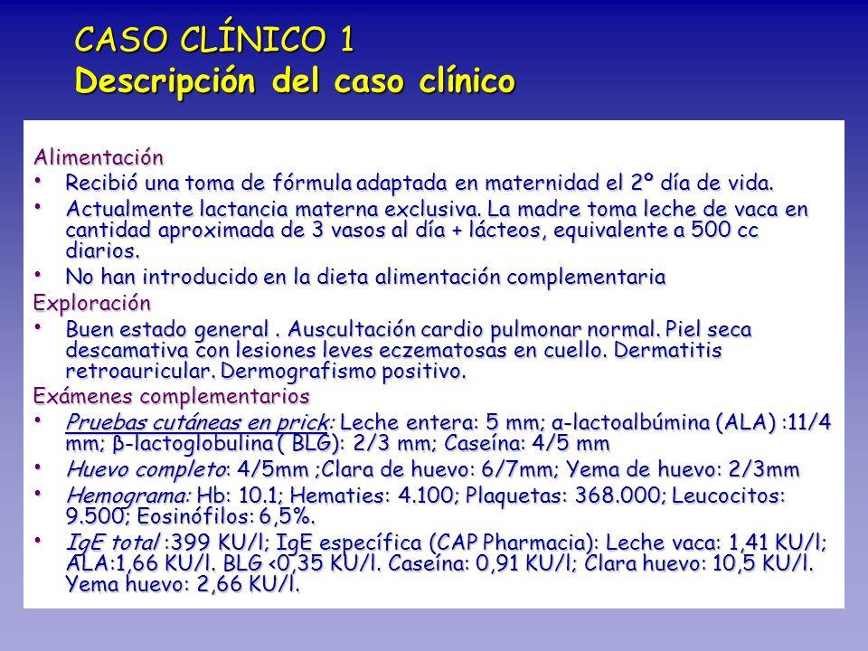 CASO CLÍNICO 1 Descripción del caso clínico