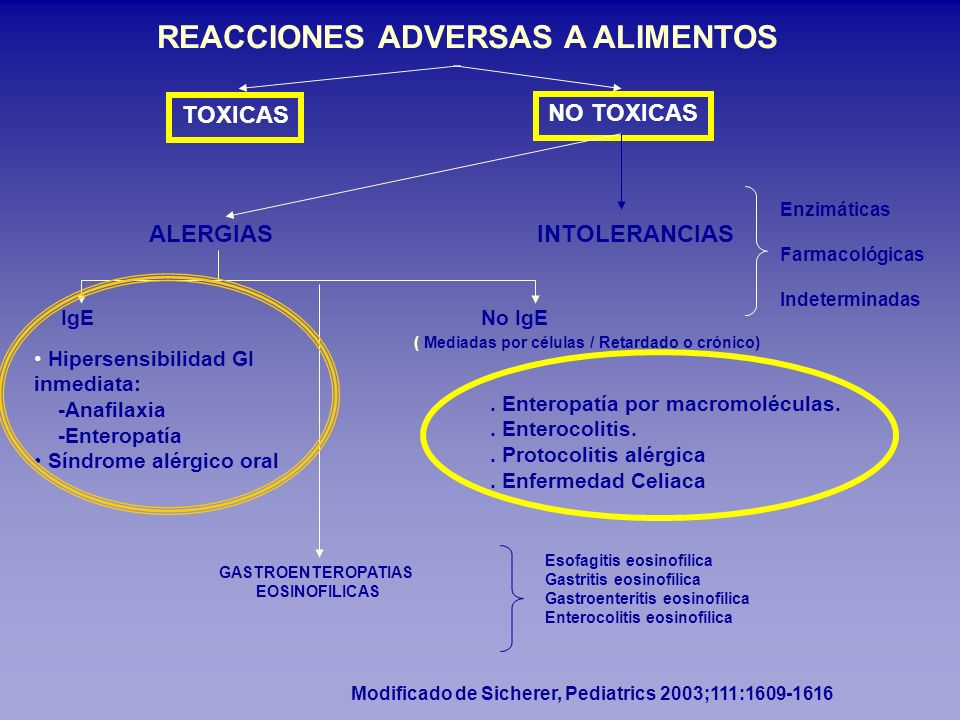 REACCIONES ADVERSAS A ALIMENTOS