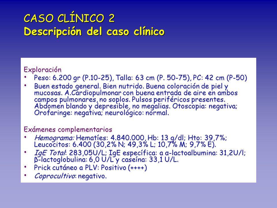 CASO CLÍNICO 2 Descripción del caso clínico