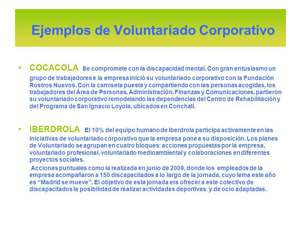 Ejemplos de Voluntariado Corporativo