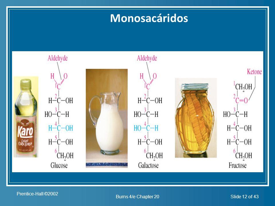 Monosacáridos Insert figure 20.2 Prentice-Hall ©2002