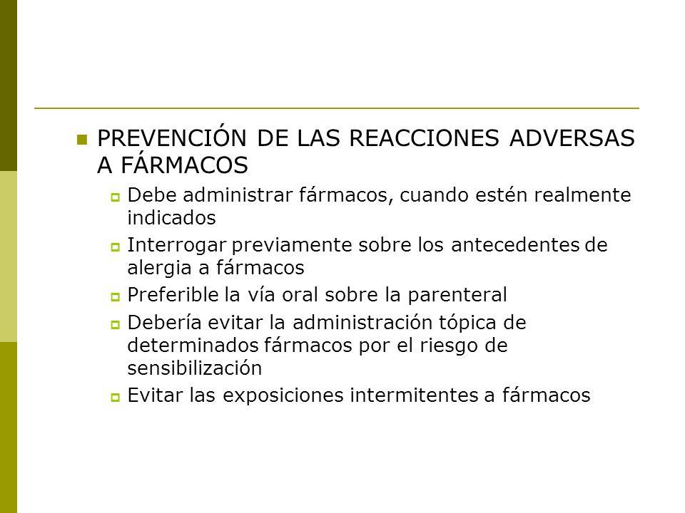 PREVENCIÓN DE LAS REACCIONES ADVERSAS A FÁRMACOS