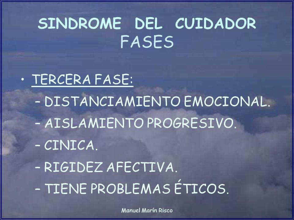 SINDROME DEL CUIDADOR FASES