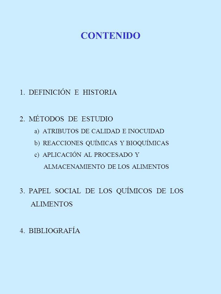 CONTENIDO 1. DEFINICIÓN E HISTORIA 2. MÉTODOS DE ESTUDIO