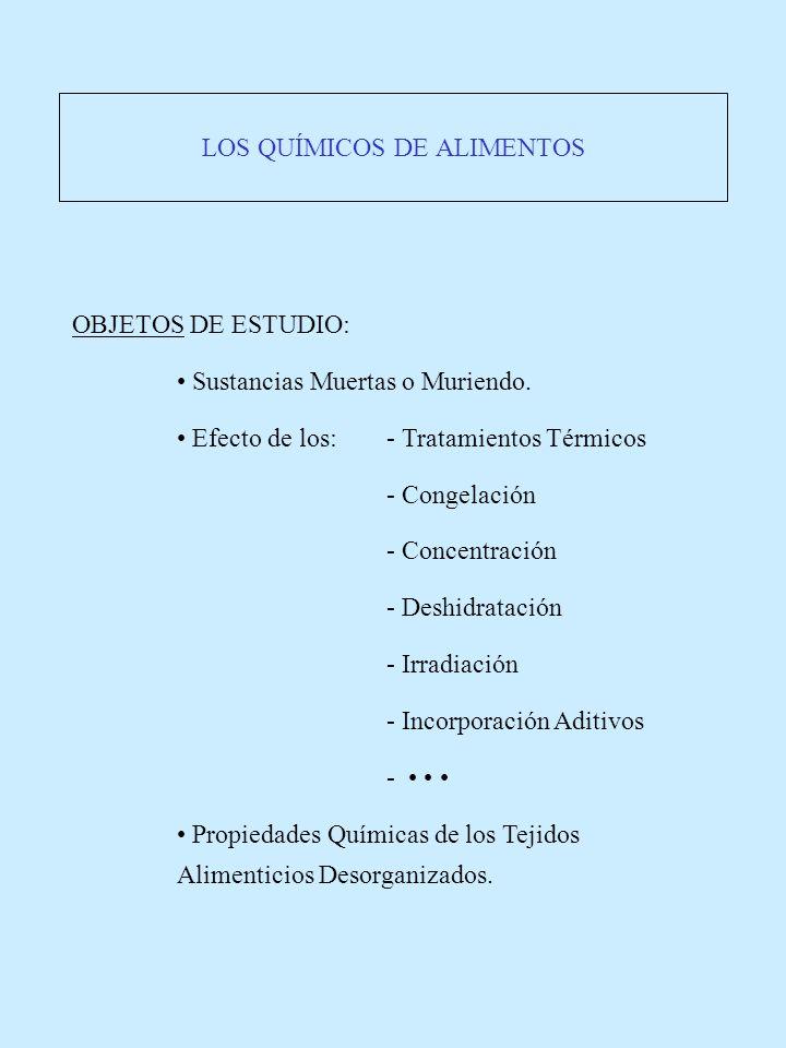 LOS QUÍMICOS DE ALIMENTOS