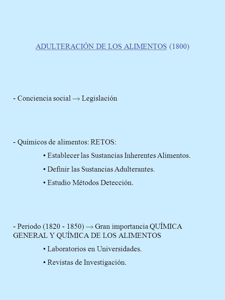 ADULTERACIÓN DE LOS ALIMENTOS (1800)