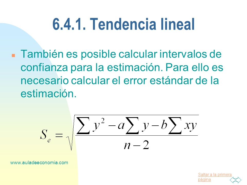 6.4.1. Tendencia lineal
