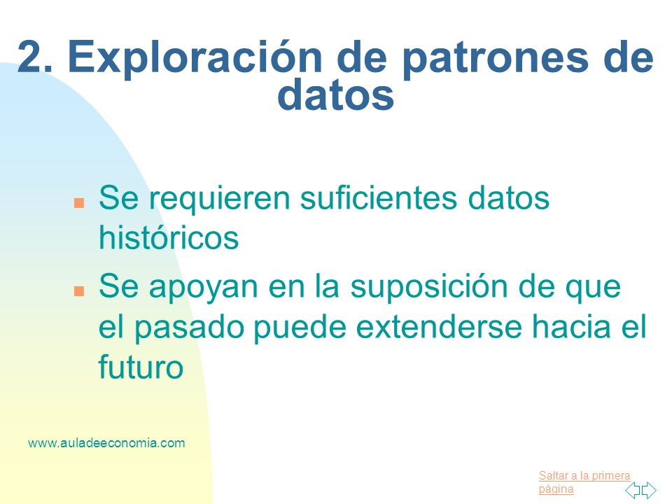 2. Exploración de patrones de datos