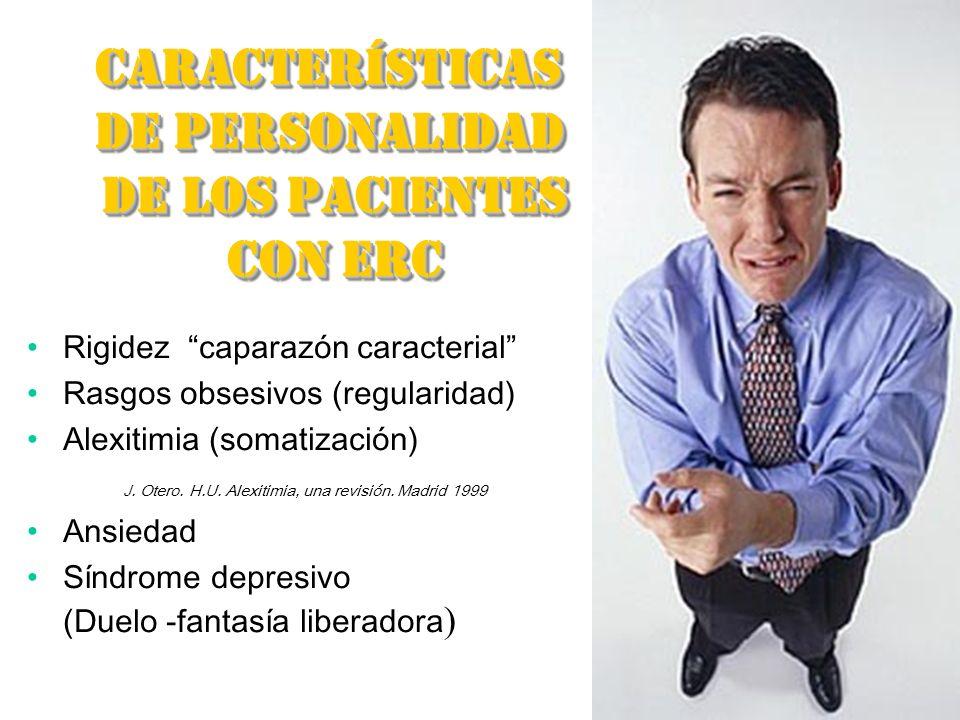 CARACTERÍSTICAS DE PERSONALIDAD DE LOS PACIENTES CON ERC