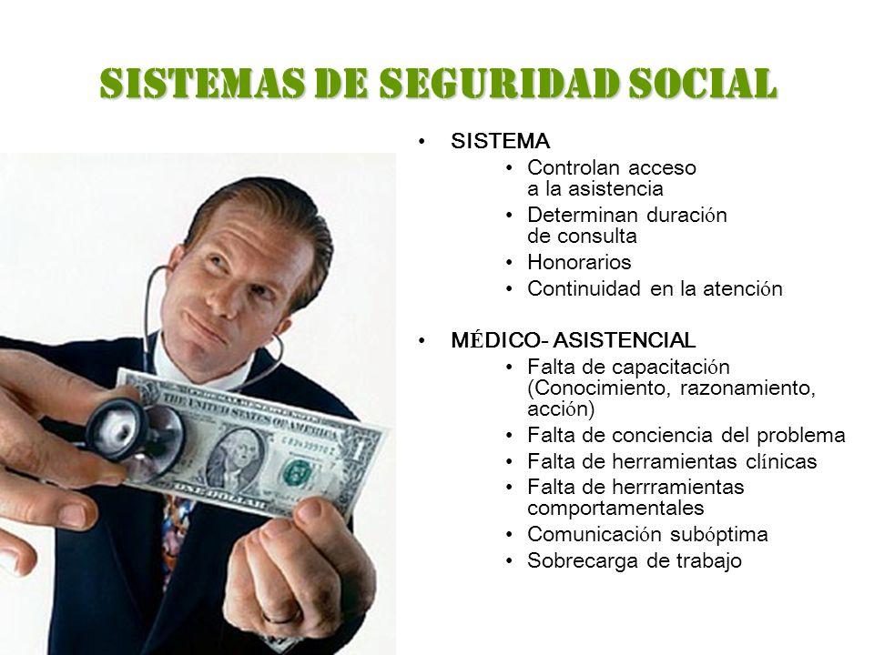SISTEMAS DE SEGURIDAD SOCIAL
