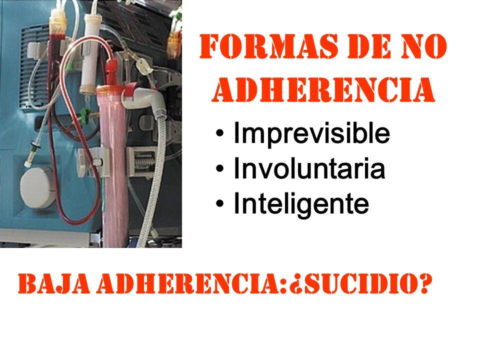 FORMAS DE NO ADHERENCIA