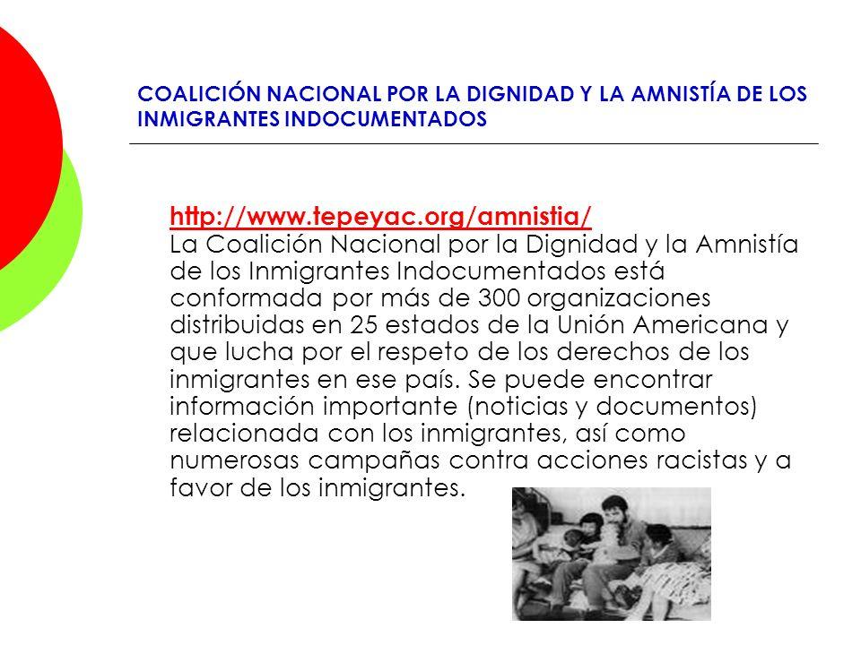 COALICIÓN NACIONAL POR LA DIGNIDAD Y LA AMNISTÍA DE LOS INMIGRANTES INDOCUMENTADOS