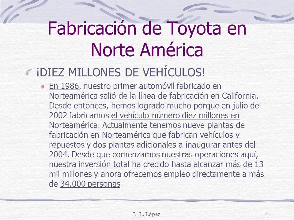 Fabricación de Toyota en Norte América