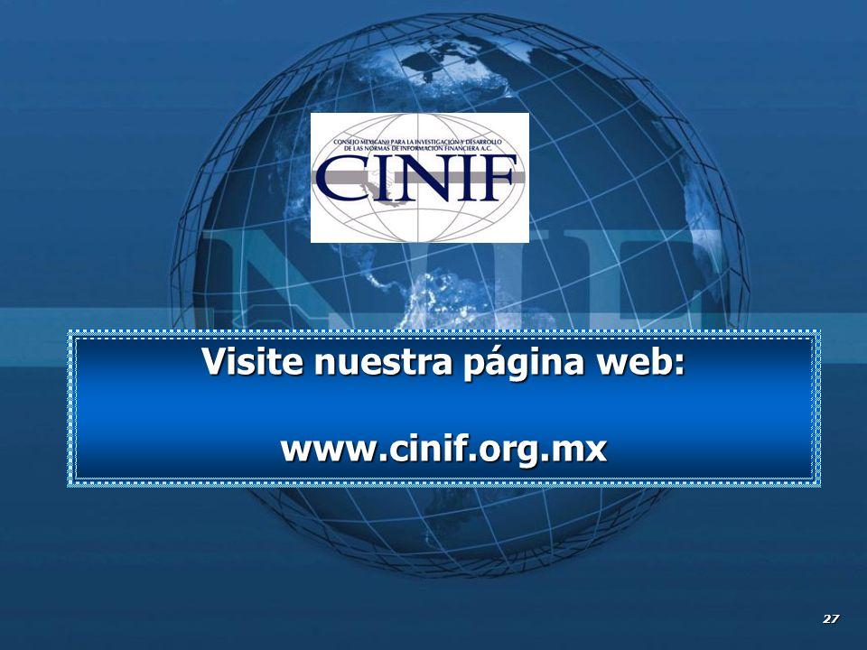 Visite nuestra página web: