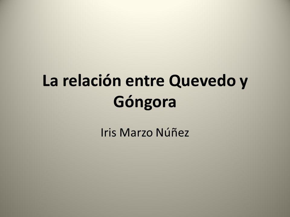 La relación entre Quevedo y Góngora