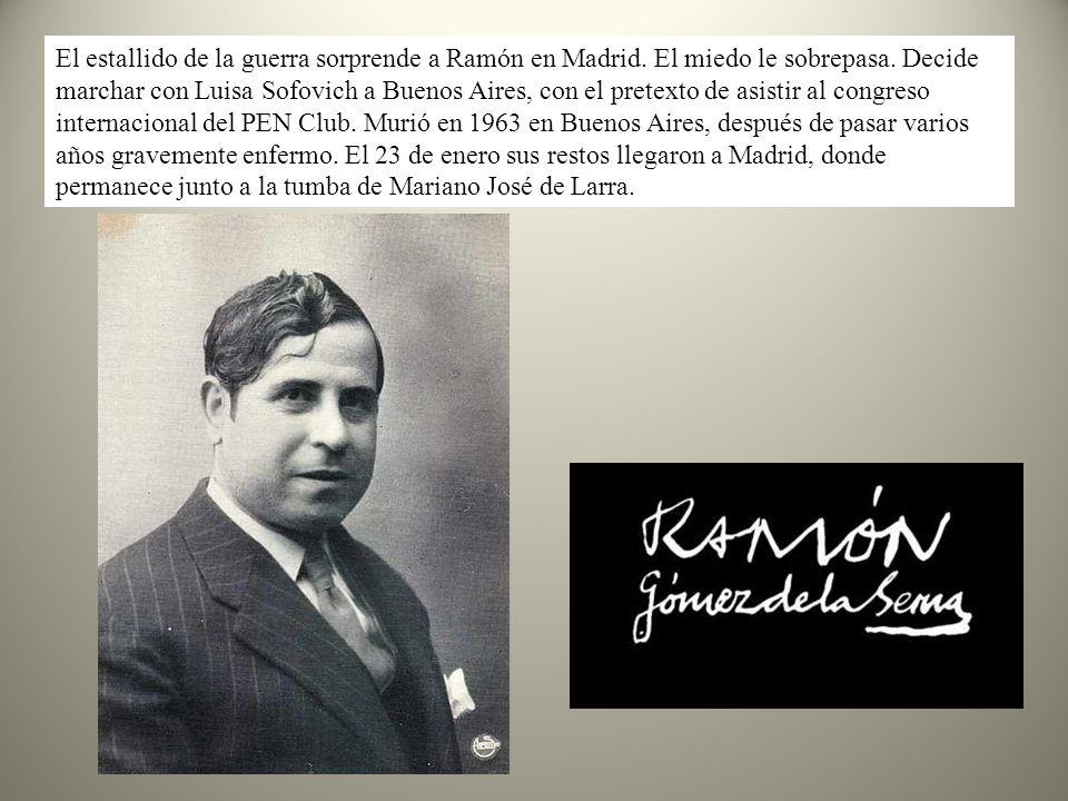 El estallido de la guerra sorprende a Ramón en Madrid