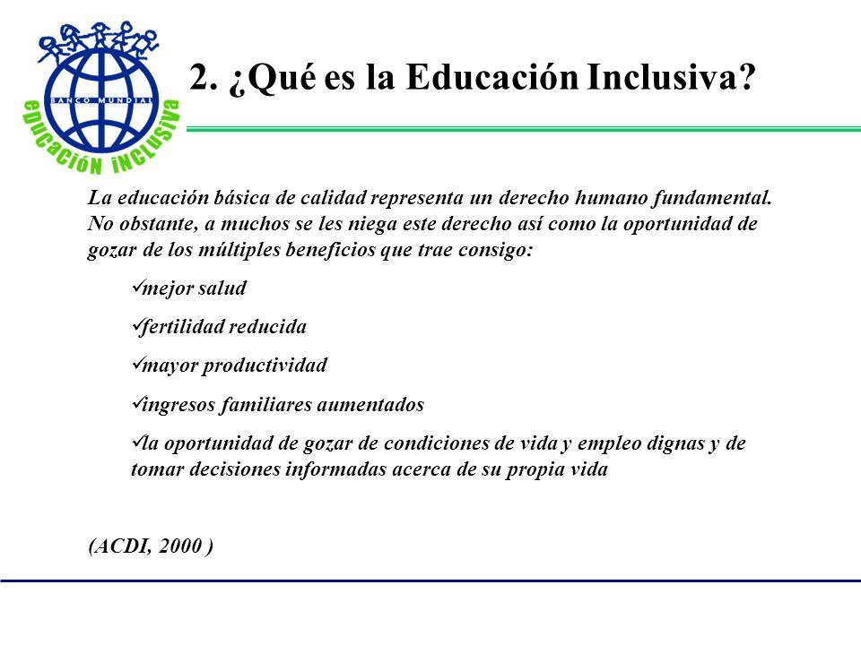 2. ¿Qué es la Educación Inclusiva