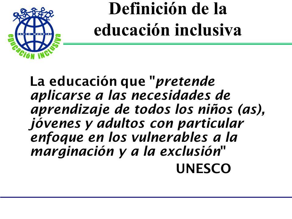 Definición de la educación inclusiva