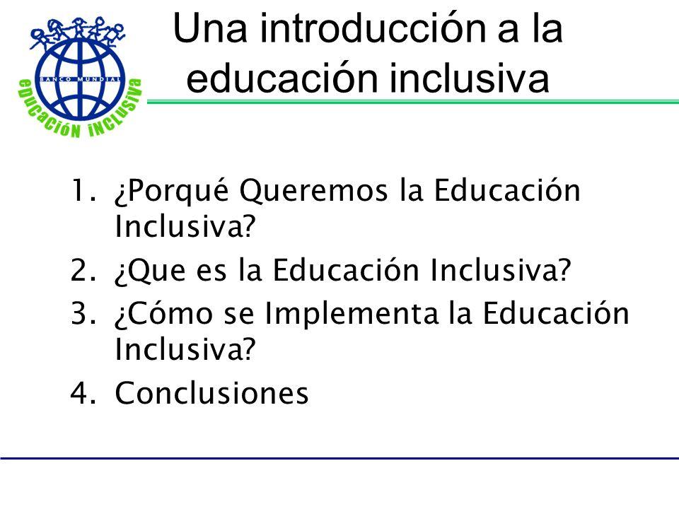 Una introducción a la educación inclusiva
