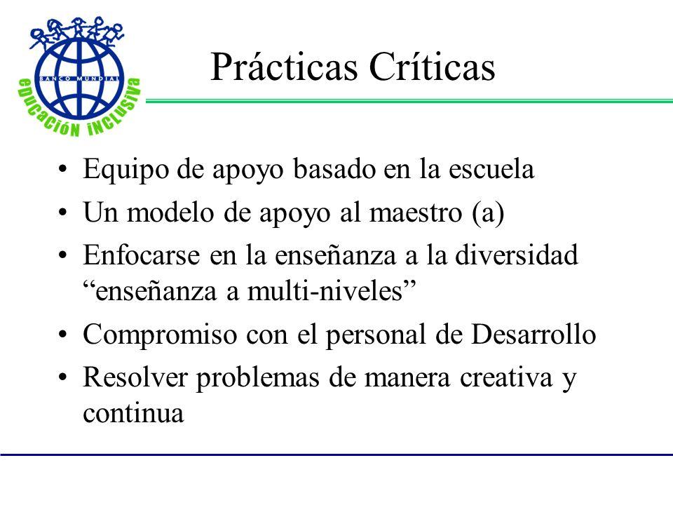 Prácticas Críticas Equipo de apoyo basado en la escuela