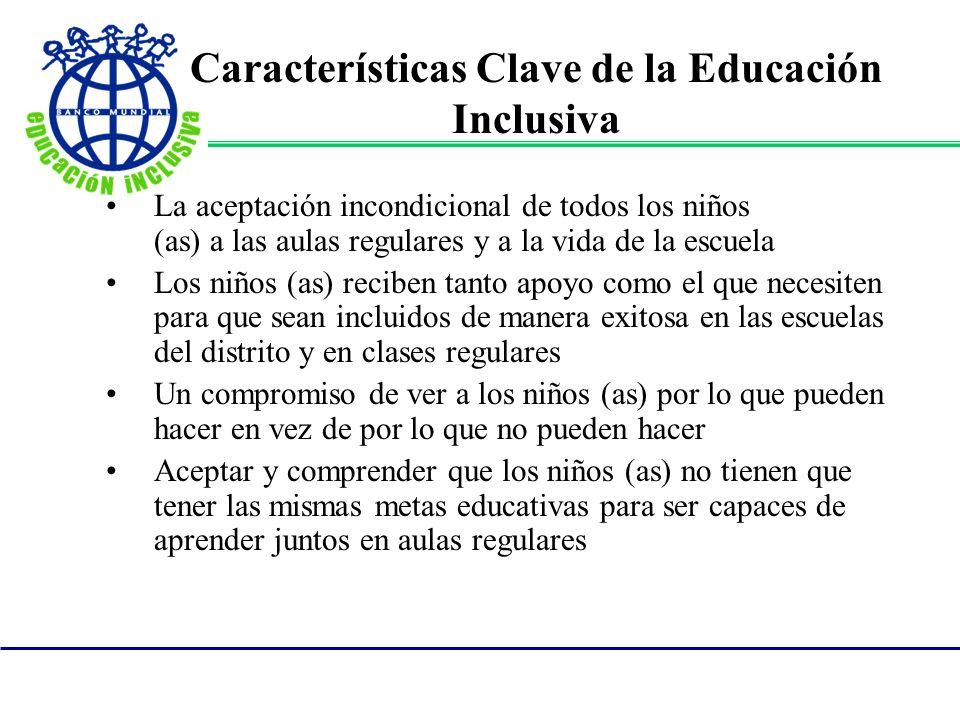 Características Clave de la Educación Inclusiva