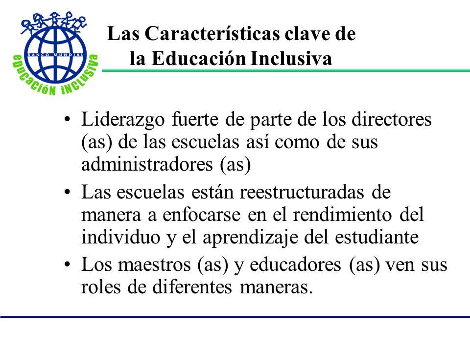 Las Características clave de la Educación Inclusiva