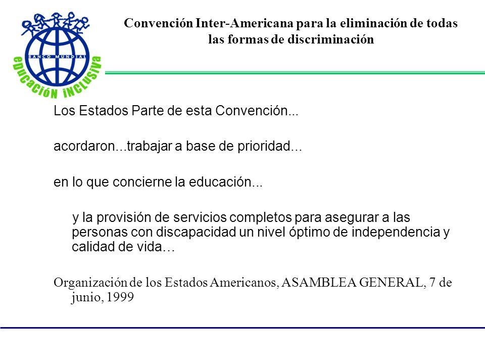 Convención Inter-Americana para la eliminación de todas las formas de discriminación