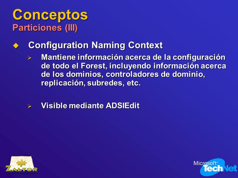 Conceptos Particiones (III)