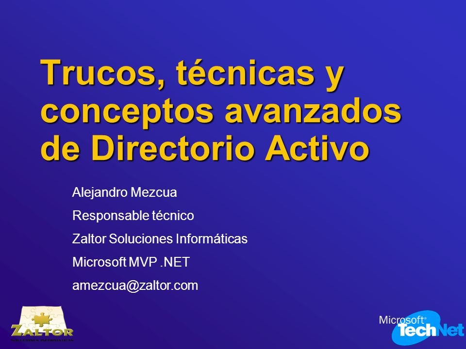Trucos, técnicas y conceptos avanzados de Directorio Activo