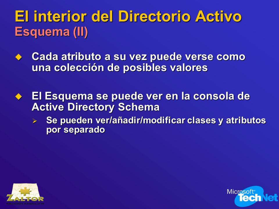 El interior del Directorio Activo Esquema (II)