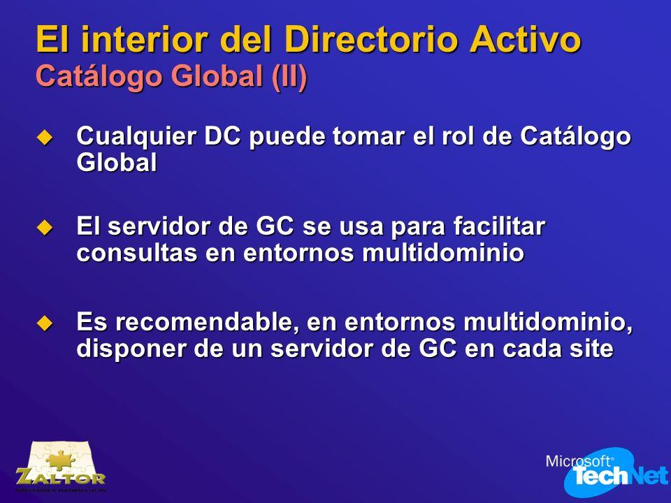 El interior del Directorio Activo Catálogo Global (II)