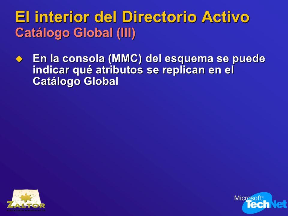 El interior del Directorio Activo Catálogo Global (III)